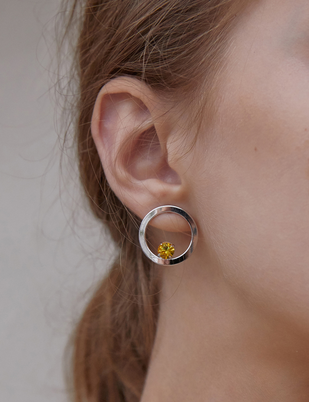 Round candy Earring - Silver