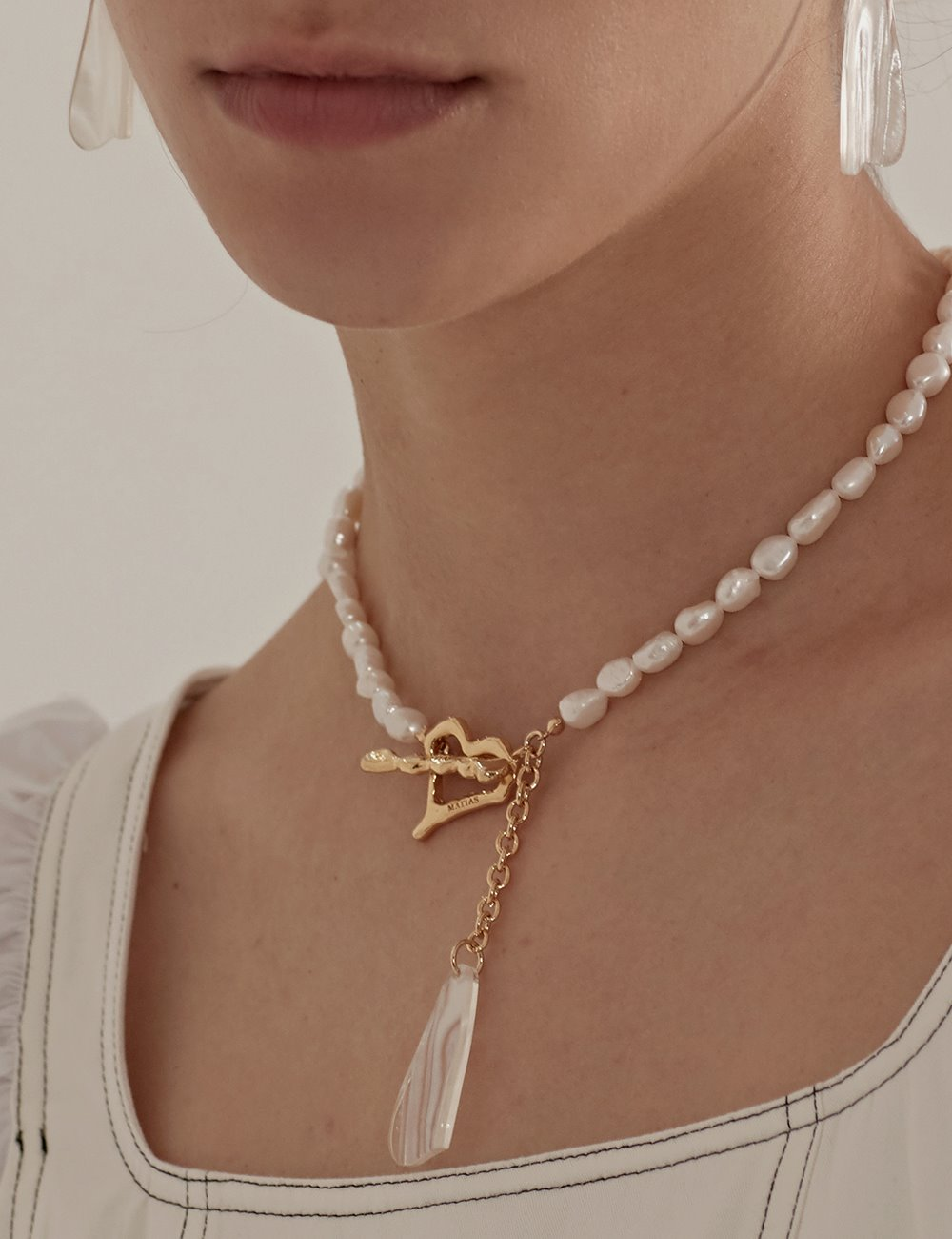 [Silver925]Heart shine Necklace