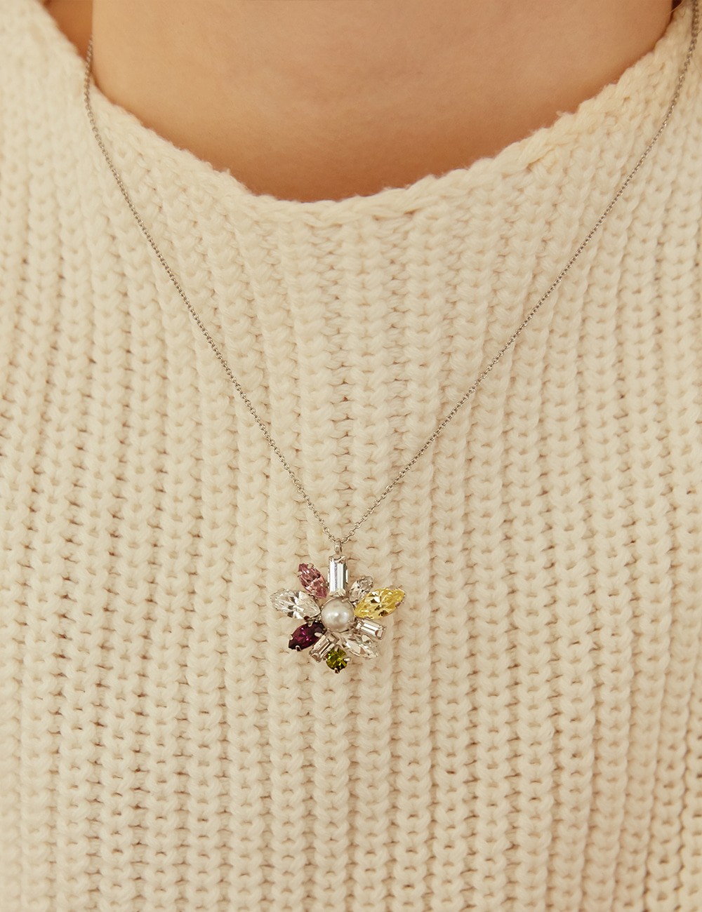 [2차 재입고] Peach bloom Necklace