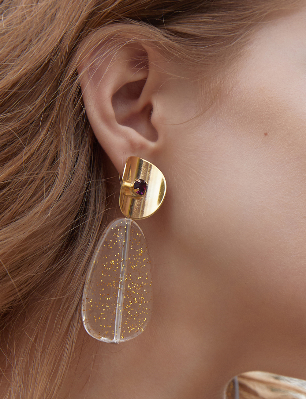Summer jelly Earring - Gold