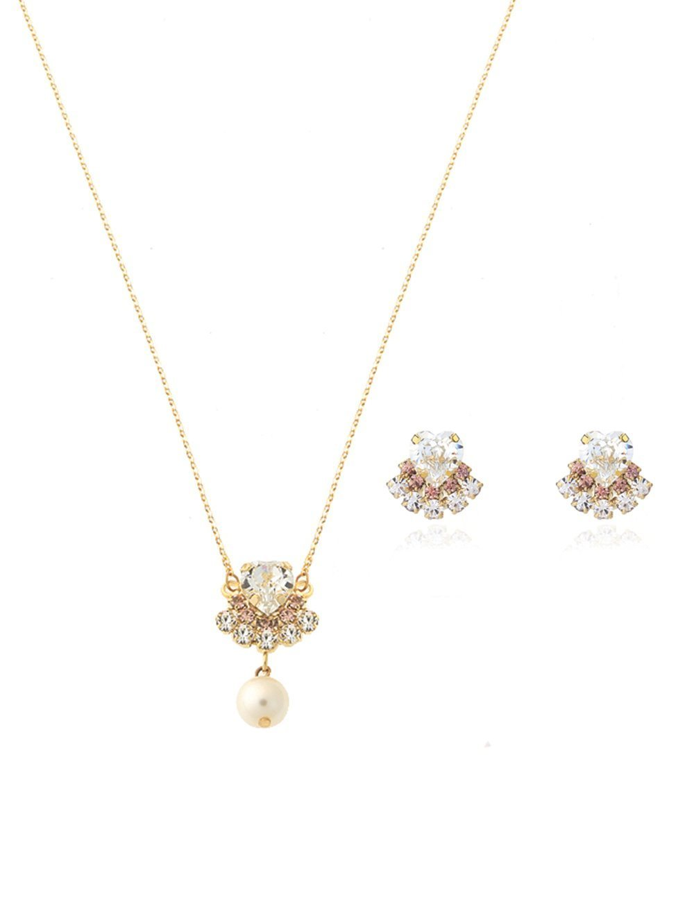 [SET] Heart crown Earring + Necklace