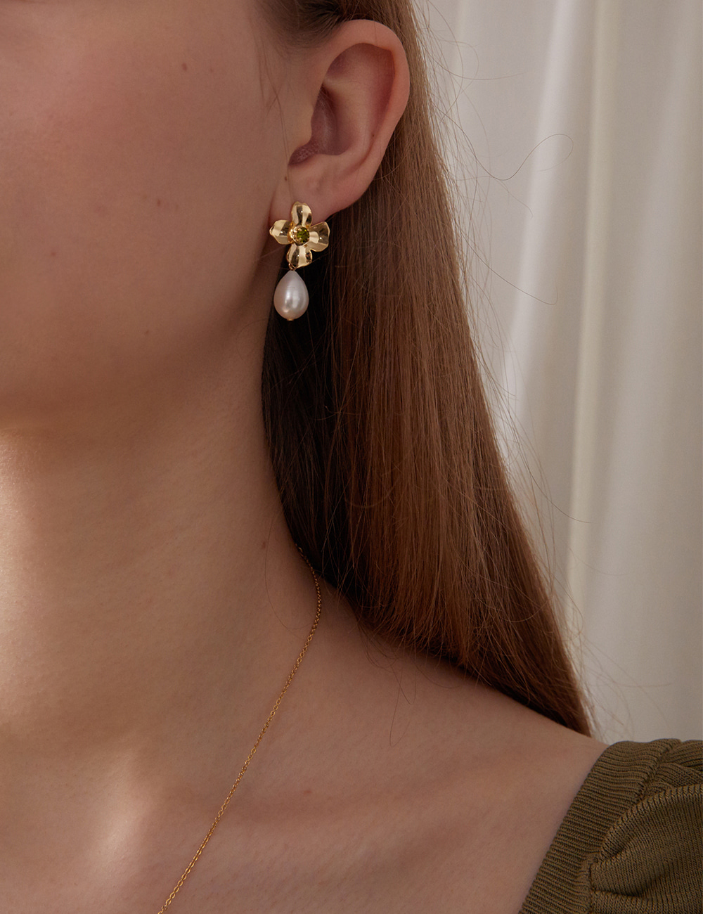 Four-leaf clover Earring (Gold)
