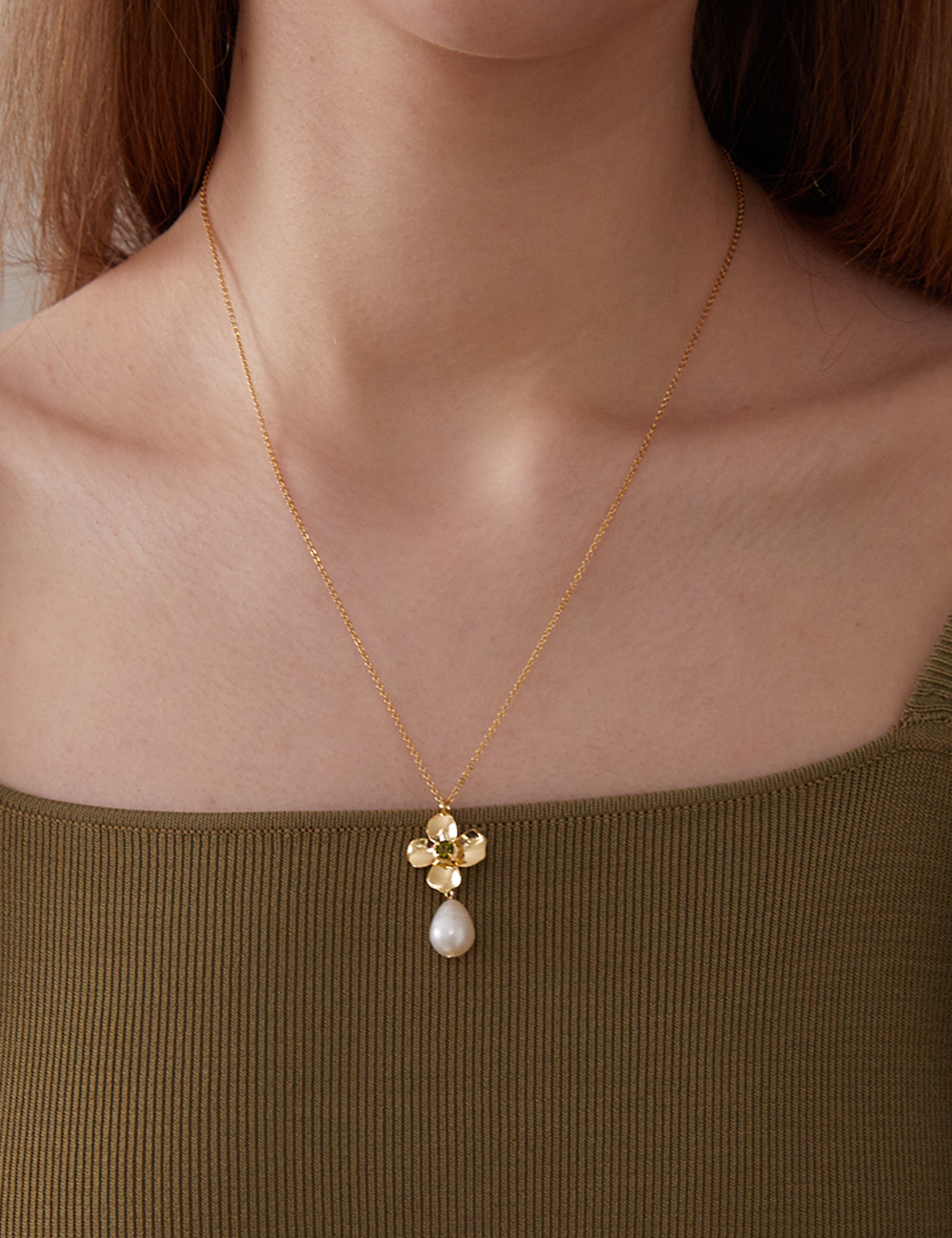 Four-leaf clover Necklace (Gold)
