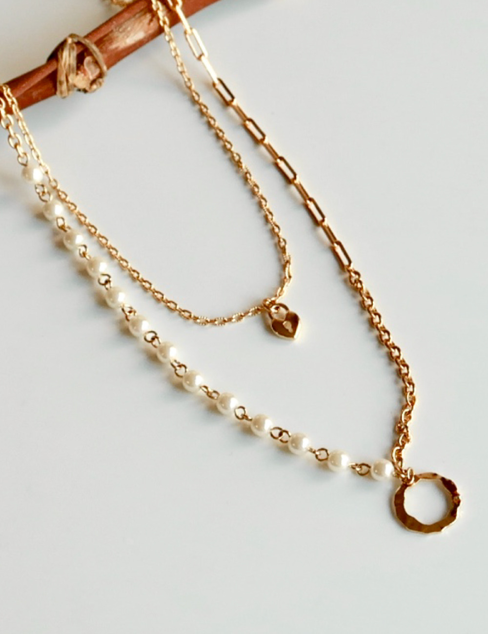 [19 Holiday] Mixed chain Necklace
