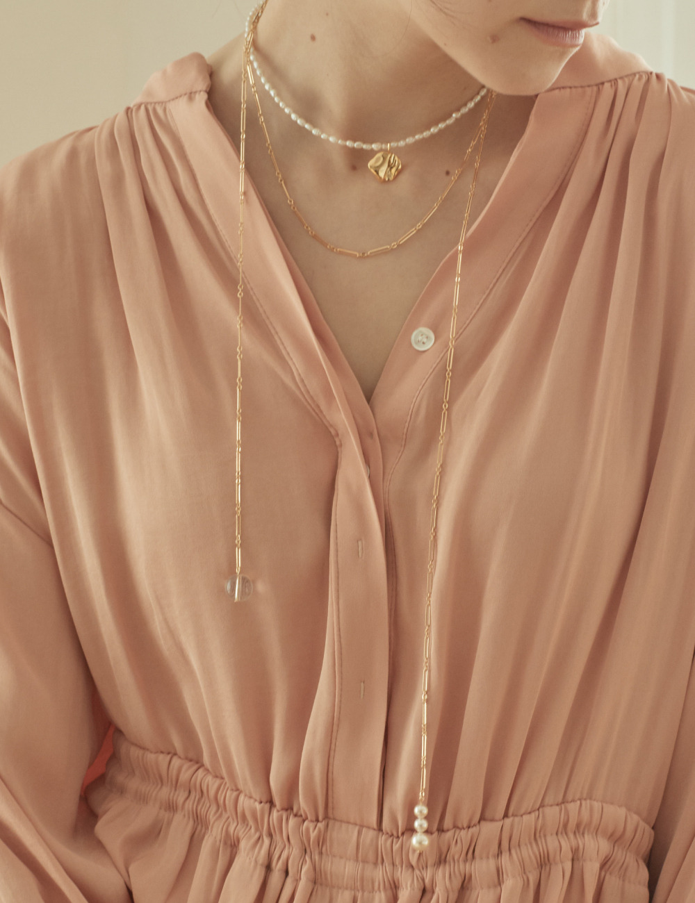 Long drape Necklace