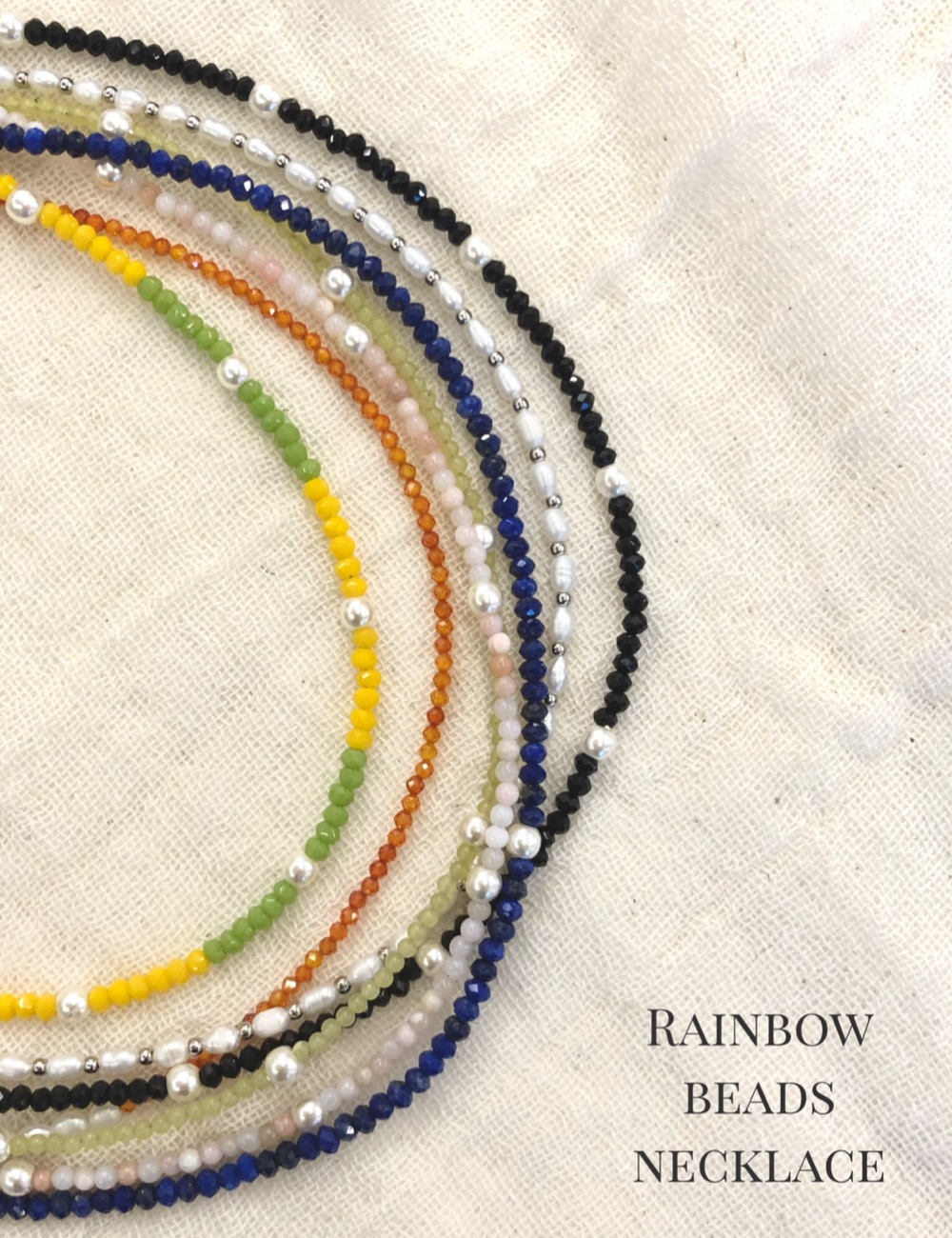 Rainbow beads necklace