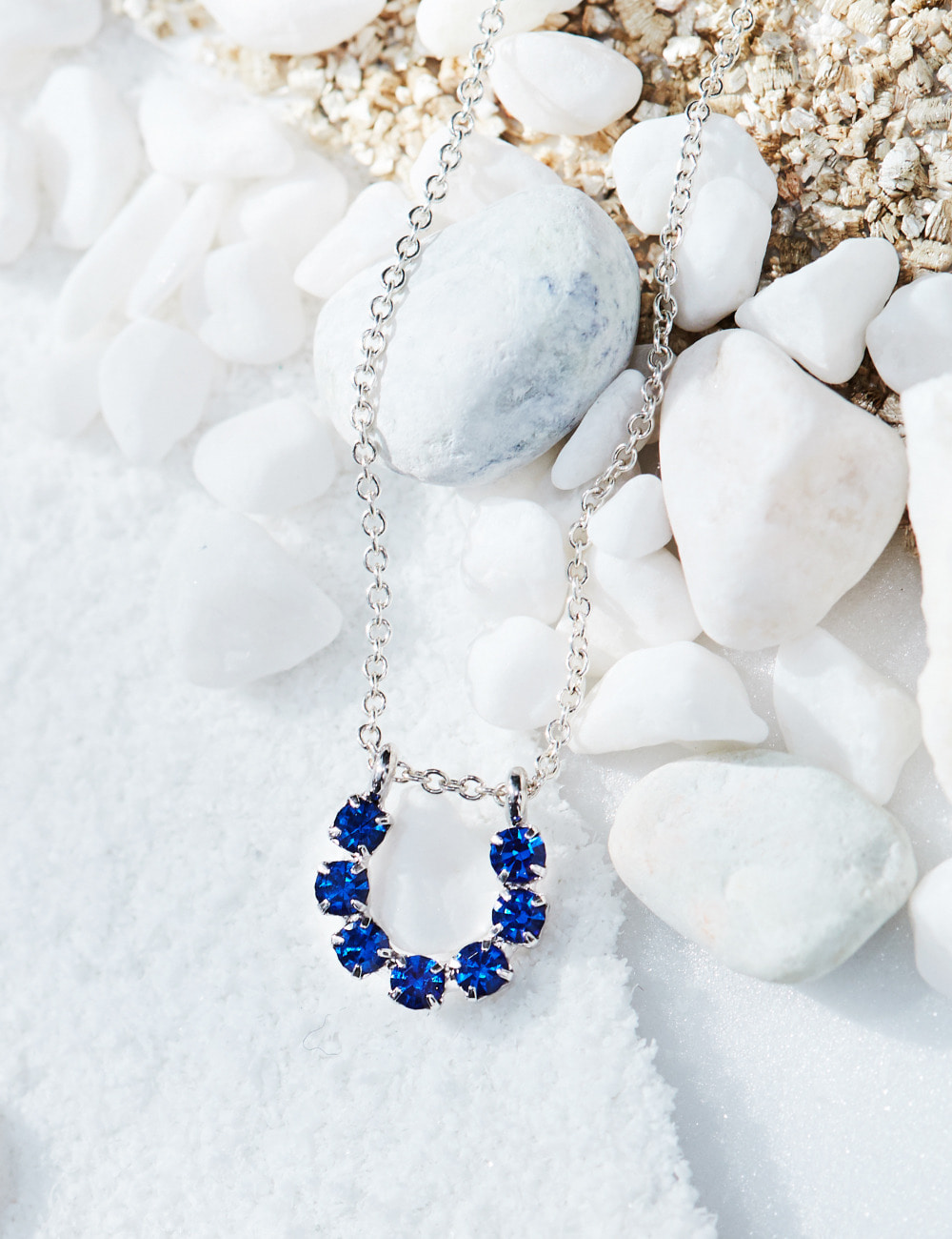 Blue tube Necklace