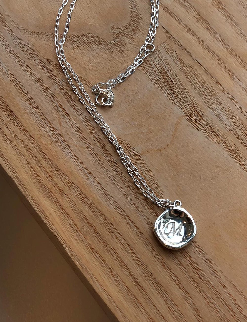 [Silver925]Memories necklace (이니셜 각인)